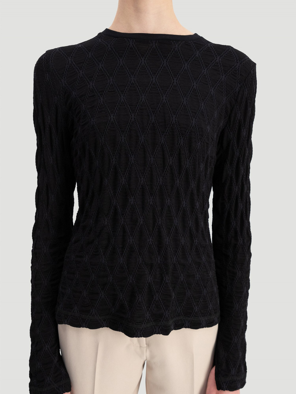 Skarn Diamond Top, Black