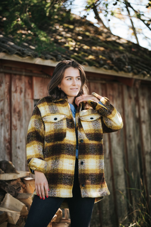Allison Check Wool Shacket
