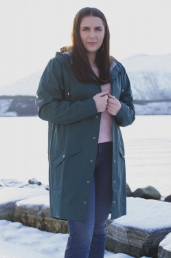 RAINS Long Jacket - Dark Teal