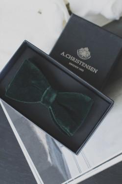 Jacquard Pre Tie, Bottle green