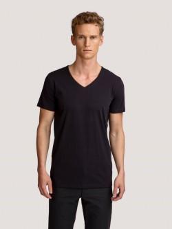 Wood Core tee V-neck - Black