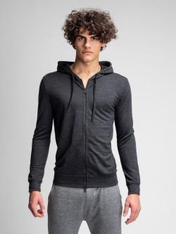 Base wool hood zip