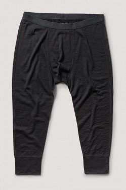 Base wool long john, black