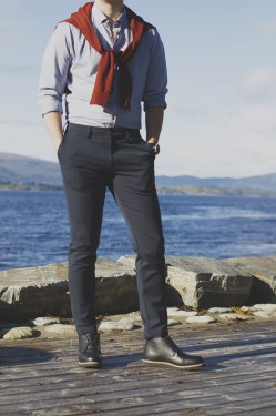 Tom trouser, Navy
