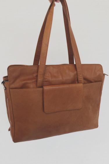 Evia Bag Large, COGNAC