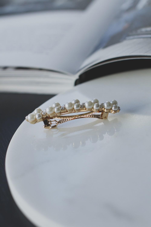 Hårspenne perler liten, 15077