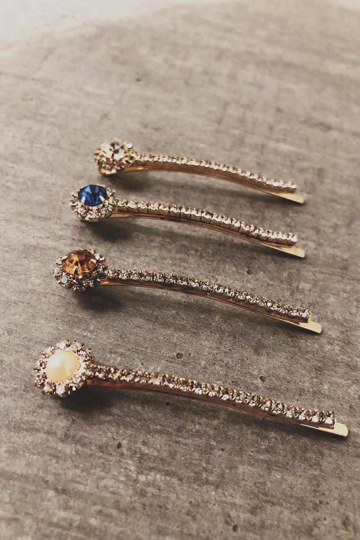 Hårspenner 4pk crystal 15044