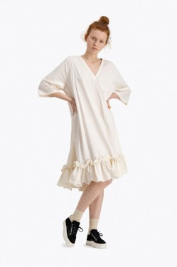 Berle dress, offwhite