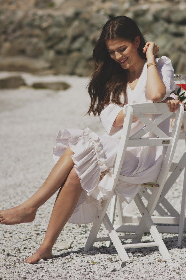 Berle dress, offwhite