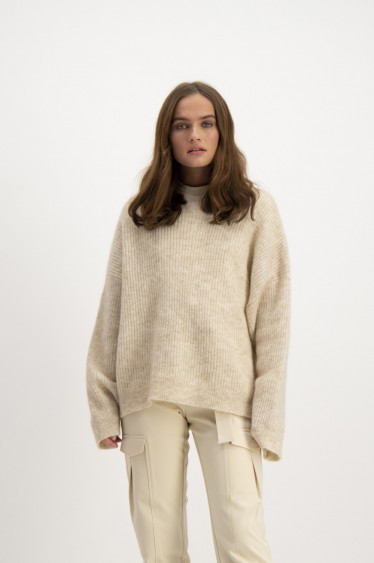 Nora Sweater, Beige Melange