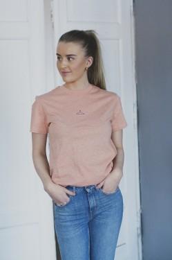 Suzana t-shirt, PEACH MELANGE
