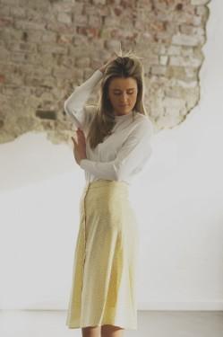 Mette Skirt, Light yellow print
