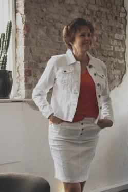 Rosita skirt white