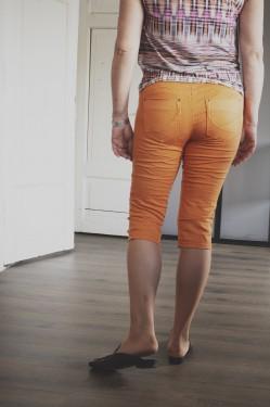 Rosita capri pants, oransje