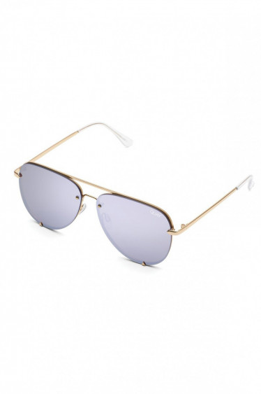 High Key RIMLESS gold/lillac