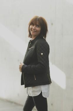 Felicia jacket, Navy/Brown