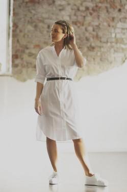 Heus, shirtdress, pure white