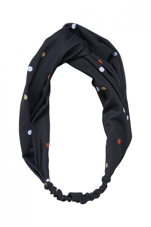Minelle hairband, Black Multi Dot