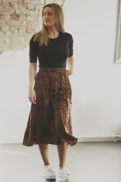 Jane Skirt, brown leo