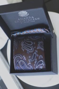 Tie & Pocket Square BROWN