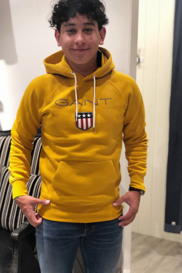 Gant Shield hoodie, Ivy gold