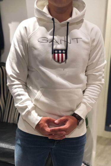 Gant Shield hoodie, eggshell