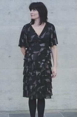 Juliette dress, Dark choko
