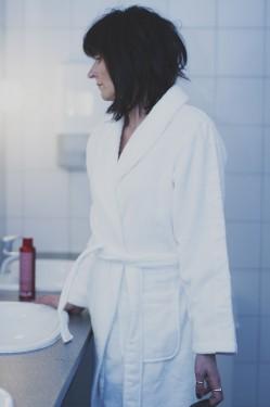 Robe white, badekåpe