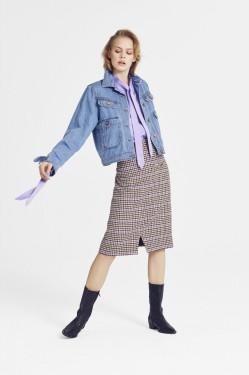 Welle Check Skirt MA18