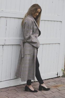 Welle check coat