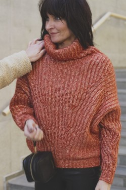 Angular Knit, mecca orange