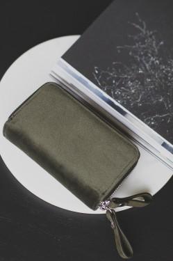 PYRUS velvet wallet, Army