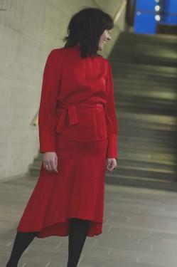 Harper skirt red