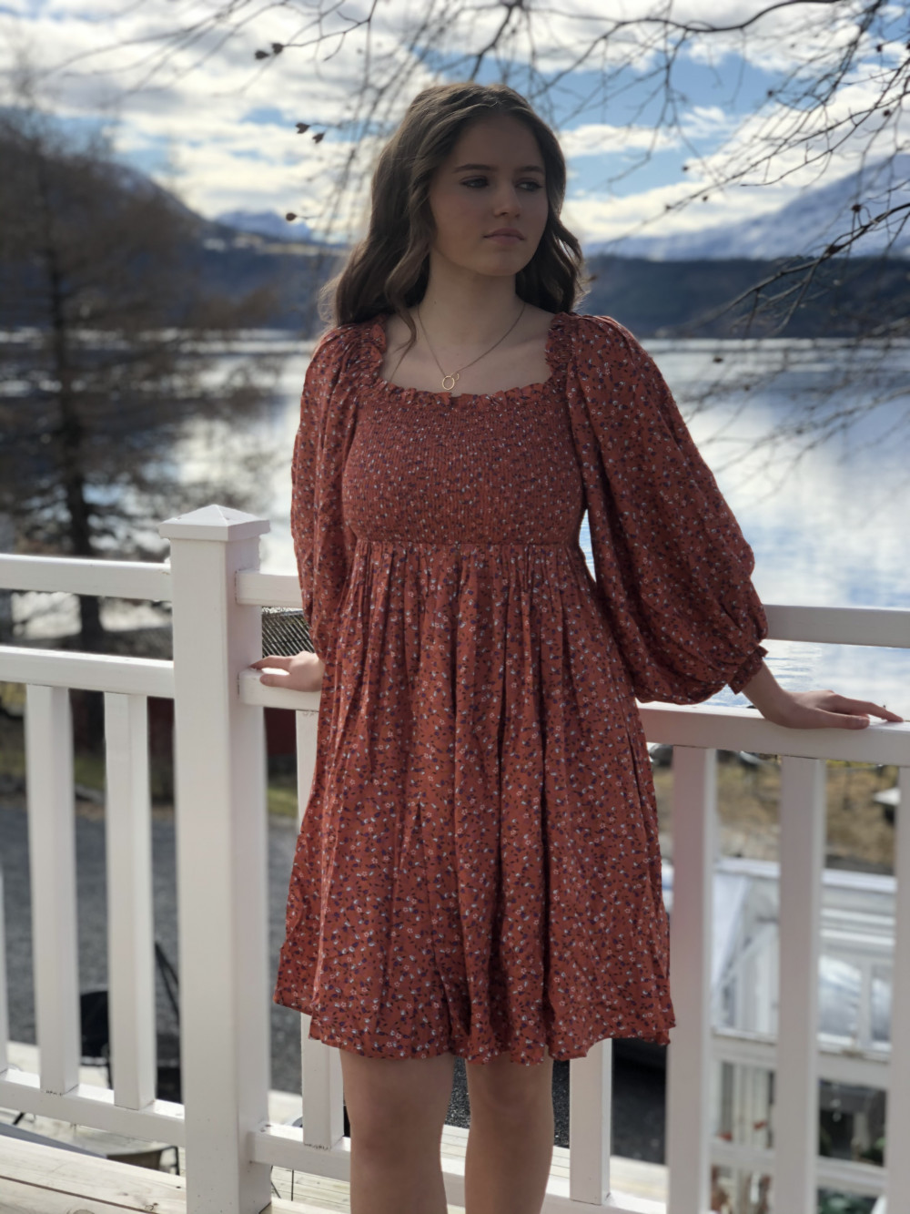 Smocking Tunic Dress