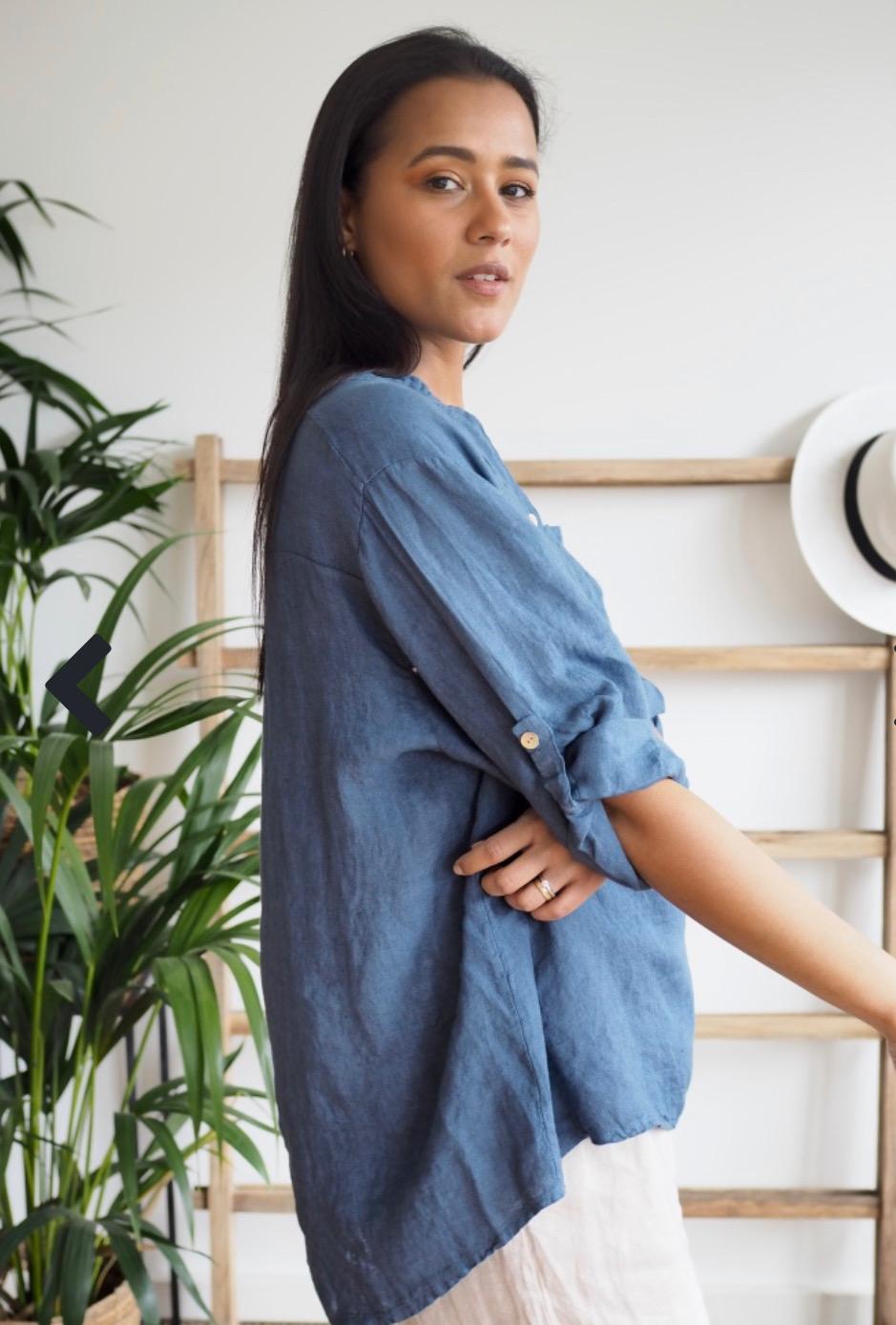 Luna Shirt Denim Blue