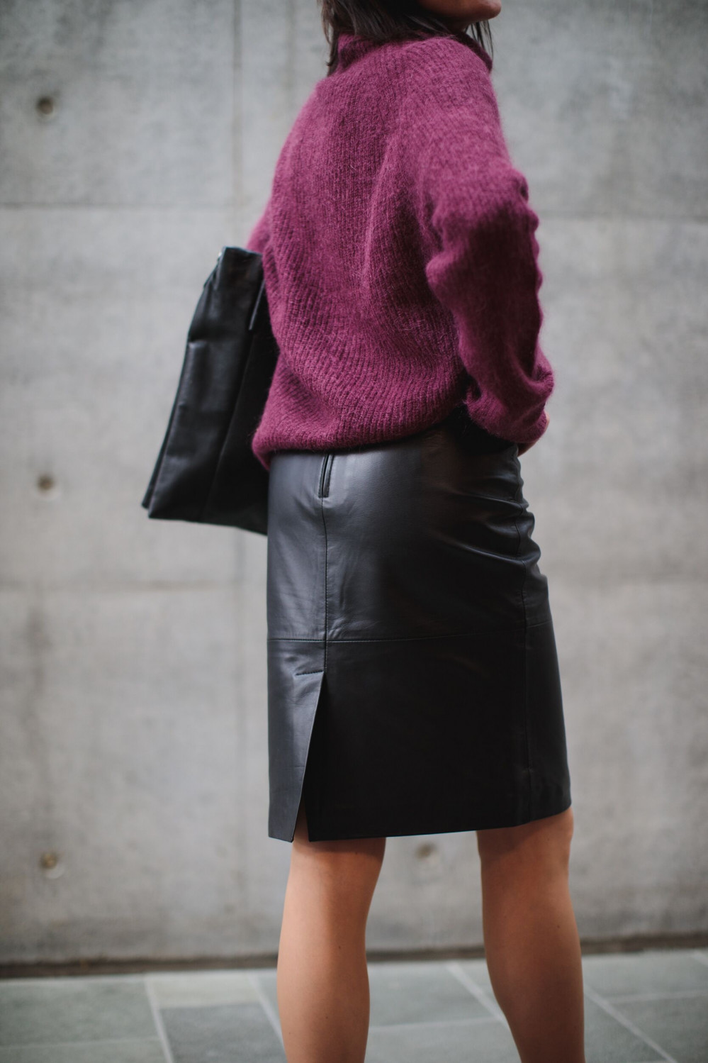 Maily leather skirt