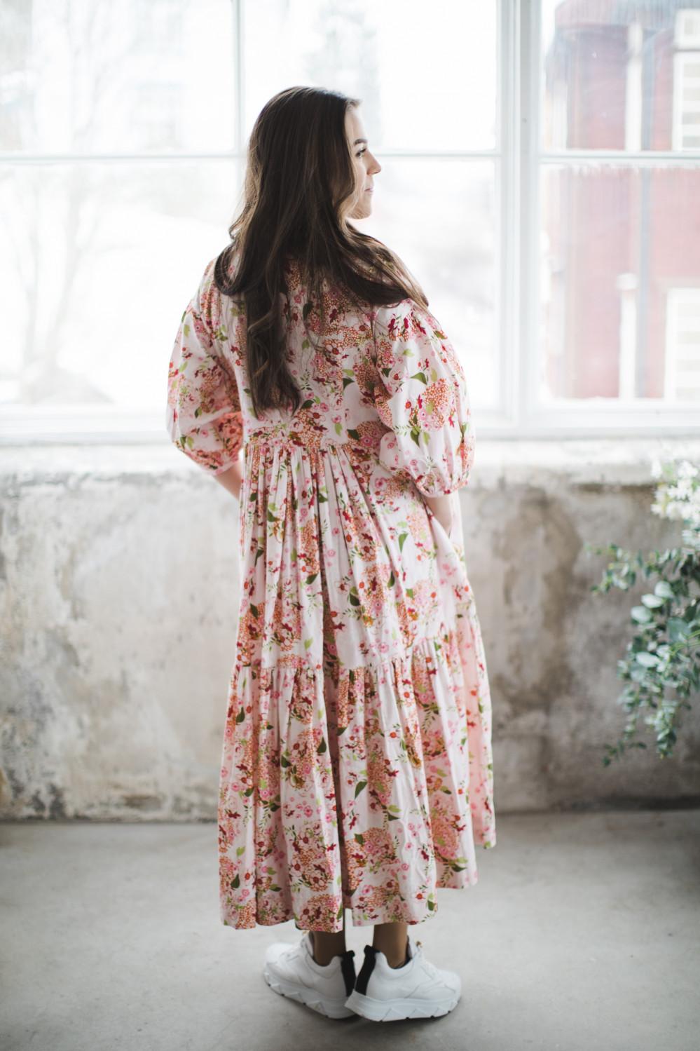 Structured cotton midi dress