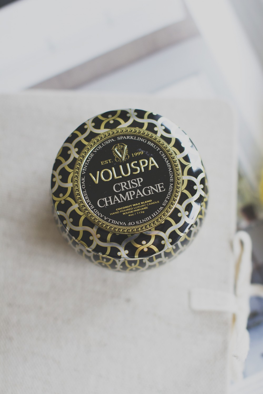 Dec Tin Candle 25 t Crisp champagne