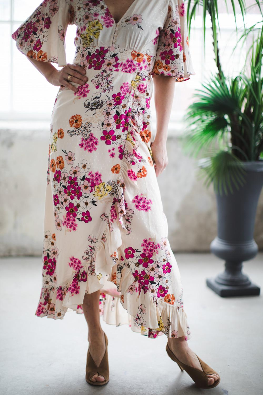 Delicate Wrap Gown Cherish