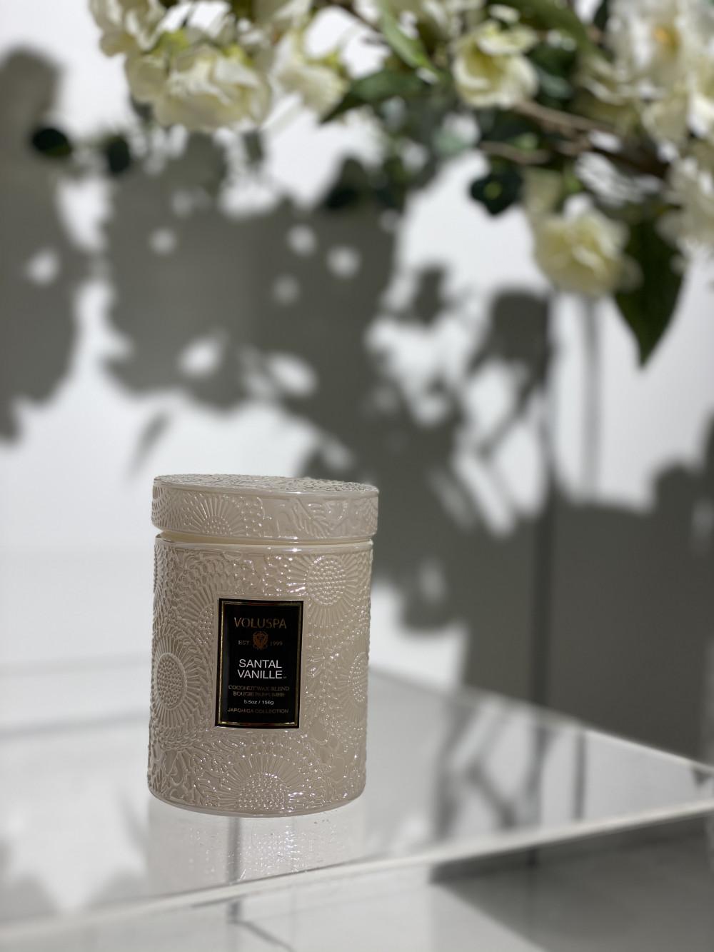 Santal Vanille mini glass jar