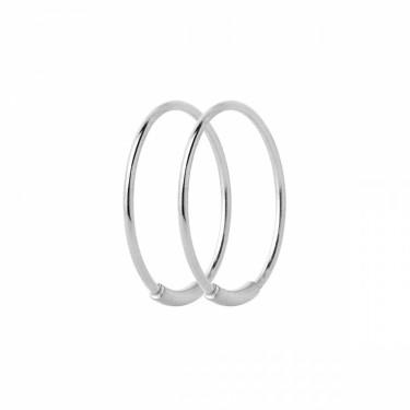 Basic 16 Hoop Silver