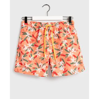 Lemon Flowers Swim Shorts / CORAL