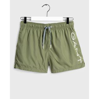 Logo Swim Shorts Lightweight / GREEN