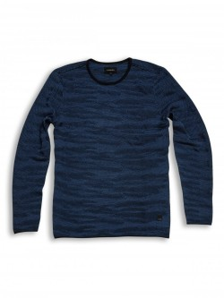 Conor Camo Knit Blue