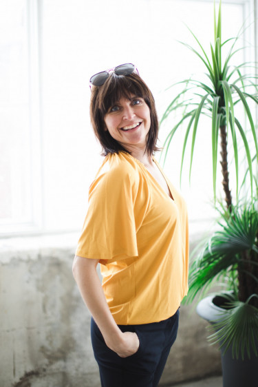 AbbeylW blouse golden yellow