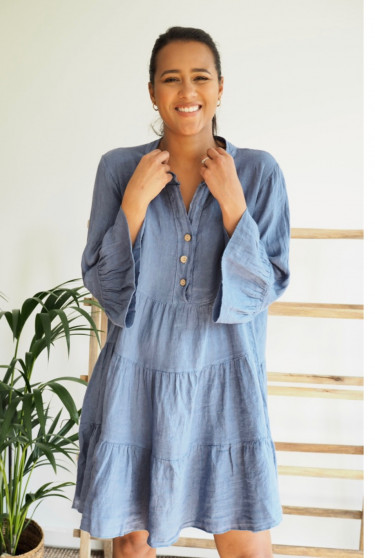 Amanda Dress Denim Blue