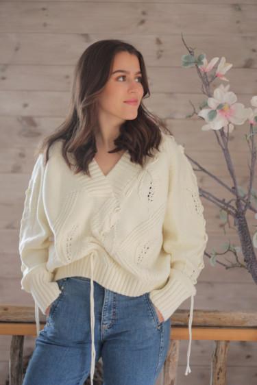 Baloon Knit Sweater Ecru
