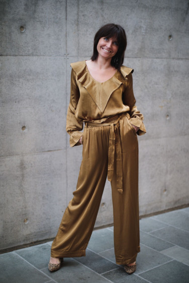 Chloe Satin Golden Brown