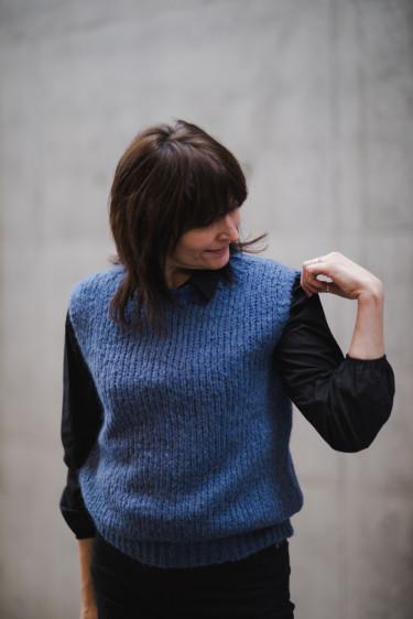 KALA Vest wool Blue