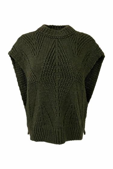 Lise Knit Waistcoat Leaf Green